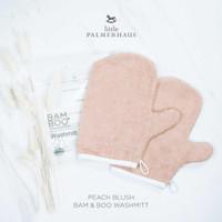 Little Palmerhaus - Premium Bam & Boo Wash Mitt PEACH BLUSH