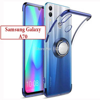 Samsung Galaxy A70 Soft Case Casing Cover Plating Clear Bening Ring