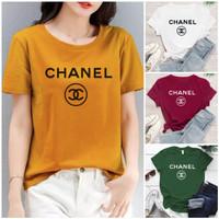 Kaos wanita CH / Tshirt wanita / atasan wanita cotton combed 30s - M