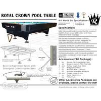 Murrey Royal Crown Pro 9 ft Pool Table - Meja Billiard Biliar Asli