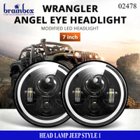 LED Headlamp Jeep Rubicon Wrangler Angel Eyes Head Lamp Halo DRL