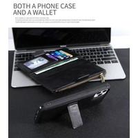 iPhone 11 Pro Wallet Magnetic Leather Case Dompet Kulit CardHolder