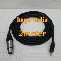 kabel audio canare ukuran besar jack xlr female to rca male(2m)
