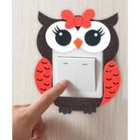 Frame saklar hiasan stop kontak OWL-BURUNG HANTU