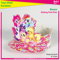Topi Ulang Tahun Anak Karakter My Little Pony Pesta Ultah Unicorn Poni