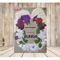 Coloring Book Art Theraphy Anti Stress Mewarnai Bunga Fleurs - Prancis