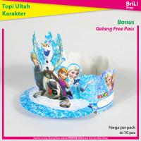Topi Ulang Tahun Anak Karakter Frozen Pesta Ultah Elsa Olaf