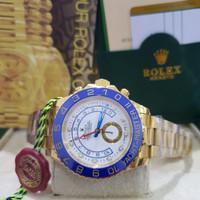 Jam Tangan Pria Rolex Yach Master 2 All Gold Sapphire Premium 1 : 1