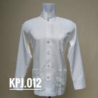 casual Koko gagah kasual formal outfit Betawi Polyspun broken white