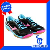 Sepatu Volly Mizuno WAVE TWISTER 3 - Black Pink Blue