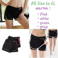 Celana sport pendek hotpants olahraga senam gym fitness import wanita