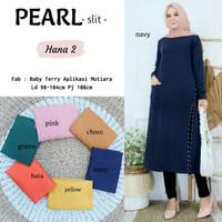 Baju Atasan Wanita Blouse Muslim Pearl Tunik Hana2