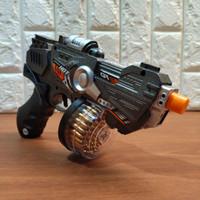 Mainan Anak Pistol Tembakan Super Gun Lampu dan Suara