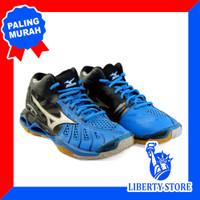 Sepatu Volly Mizuno WAVE TORNADO X MID - Blue Silver Black