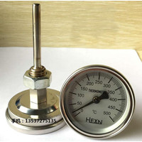 Termometer Bimetal 0 - 500 C Thermometer Frying Analog Jarum Food Oven