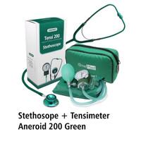 Dijual paket Tensimeter Aneroid 200 & Stetoscope - Hijau