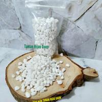 Batu Hias Untuk Pot Tanaman Kemasan 250 Gram - Putih Kapas
