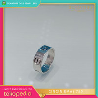 Cincin Emas Putih Model Ring Cartier. 0859