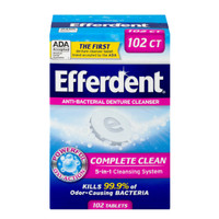 Efferdent Denture Cleanser anti-bacterial 102 tablets