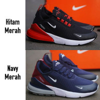 Sepatu Pria Sneakers Nike Airmax Air Max 270 Grade Ori Hitam Navy Abu