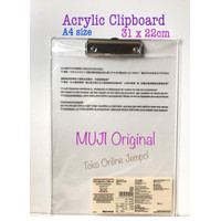 A4 Clip Board Board Acrylic Papan Ujian MUJI 34728 Jalan ATK1029MJ