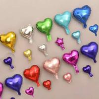 dewi.shop88#Balon foil love dan bintang 5 inch & 10 inch