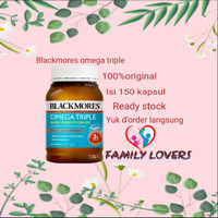 blackmores odourless fish oil omega triple 150 kapsul