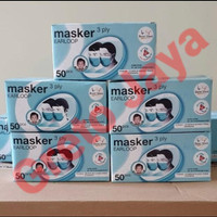 ( 50 pcs ) Masker Medis Dokter Earloop 3 ply 3Ply Best Med BestMed