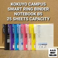 KOKUYO CAMPUS SMART RING BINDER NOTEBOOK B5 25 SHEETS CAPACITY