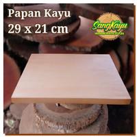 Kayu papan kayu 29x21x1,5m talenan kayu bahan craft dekorasi hiasan