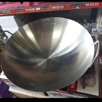 (Gosend) Wajan Kuali Jumbo Stainless Calypso-Wajan Penggorengan 70Cm