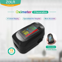 Zola Pulse Oximeter Fingertip Sp02 Saturation Monitor 4 Color Display