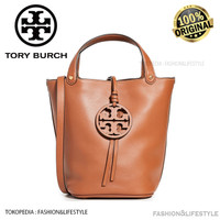 Tory Burch Leather Miller Bucket Bag Aged Camello Original 100%