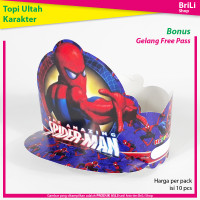Topi Ulang Tahun Anak Karakter Spiderman Pesta Ultah Spider Man