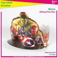 Topi Ulang Tahun Ultah Anak Karakter Avengers Captain America Iron Man