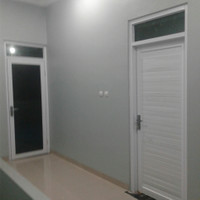 1sett kusen alumunium 4in coating white + daun pintu