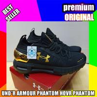sepatu under armor hovr phantom black gold _premium original