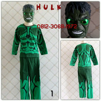 Kostum Halloween Anak Superhero AVENGERS HULK Led TOPENG NYALA