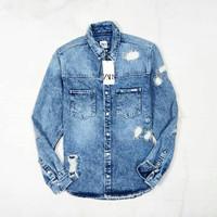 jaket murah zara denim jacket original - M