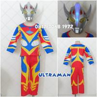 Topeng Nyala Baju Anak Superhero Ultra Man Ultraman Hadiah Ulang Tahun