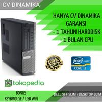 Komputer pc cpu DELL core i3 HDMI hemat listrik garansi ori murah