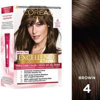 LOREAL Paris Hair Color Excellence Creme # 4 Brown -Cat Pewarna Rambut