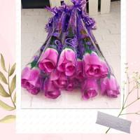 setangkai mawar/setangkai mawar Pastik/bunga plastik ungu
