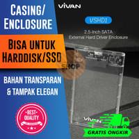 Casing Enclosure Hard disk HDD/SSD External SATA USB 3.0 Transparan