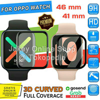 Anti Gores Oppo Watch 41mm 46mm Tempered Glass 3D CURVED Full Cover