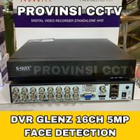 DVR GLENZ 16 CHANNEL 5MP 2560P 6 IN 1 / FACE DETECTION