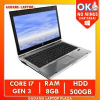 HP Elitebook 2570P Core i7 Gen 3 8GB 500GB Laptop Bekas Notebook Murah