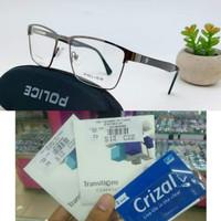 Kacamata Pria polis Free lensa Gia Transition clasic minus/Clylinder