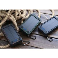 Power Bank Tenaga Surya Solar Power 10000 mAh 2 USB Dengan Kompas