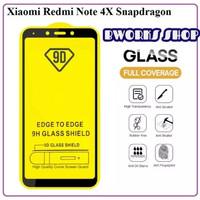 TEMPERED GLASS TG 9D FULL LEM XIAOMI REDMI NOTE 4 / NOTE 4X - HITAM